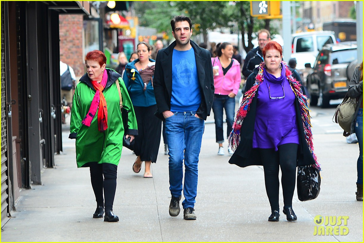 zachary quinto go see big fish on broadway 032970130