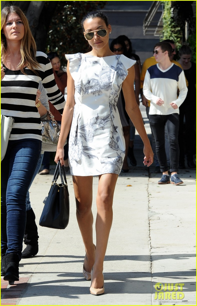 naya rivera goes wedding dress shopping with kevin mchale 202970802