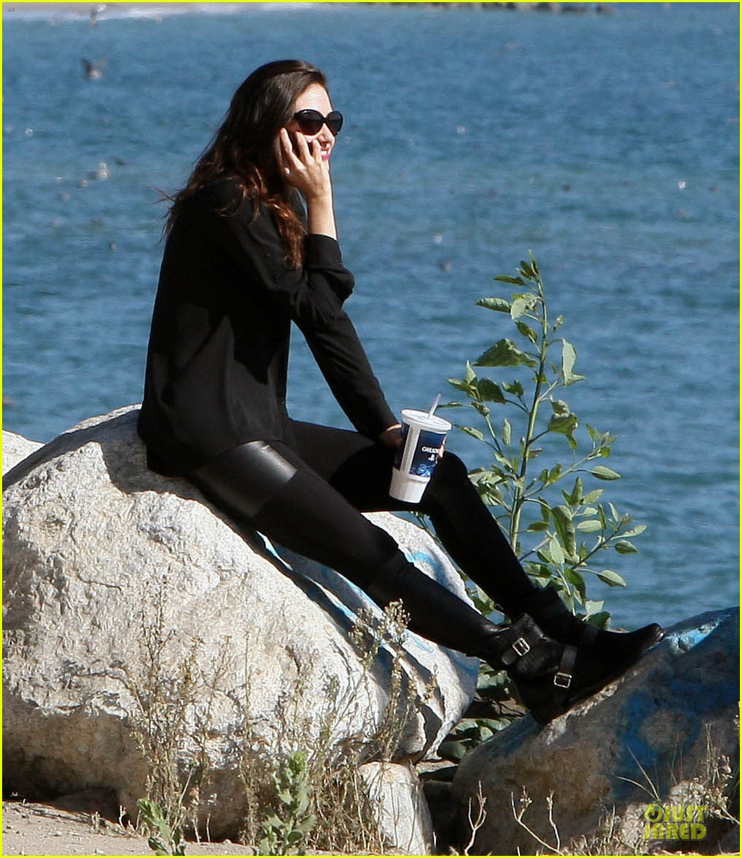 emmy rossum moment of peace at the beach 03