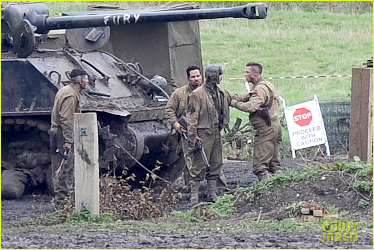 brad pitt shia labeouf continue fury filming 06