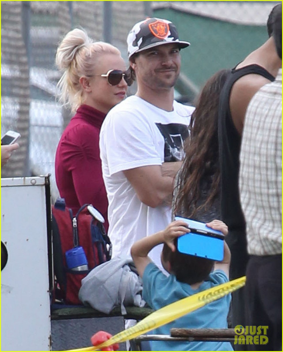 britney spears jayden soccer game with kevin federline 162980905