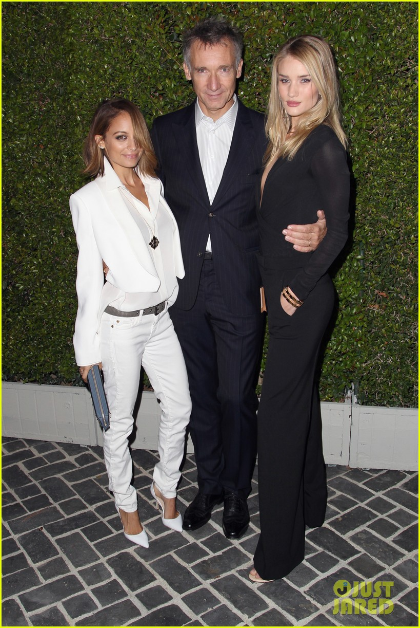 rosie huntington whiteley nicole richie chloe fashion show dinner 16