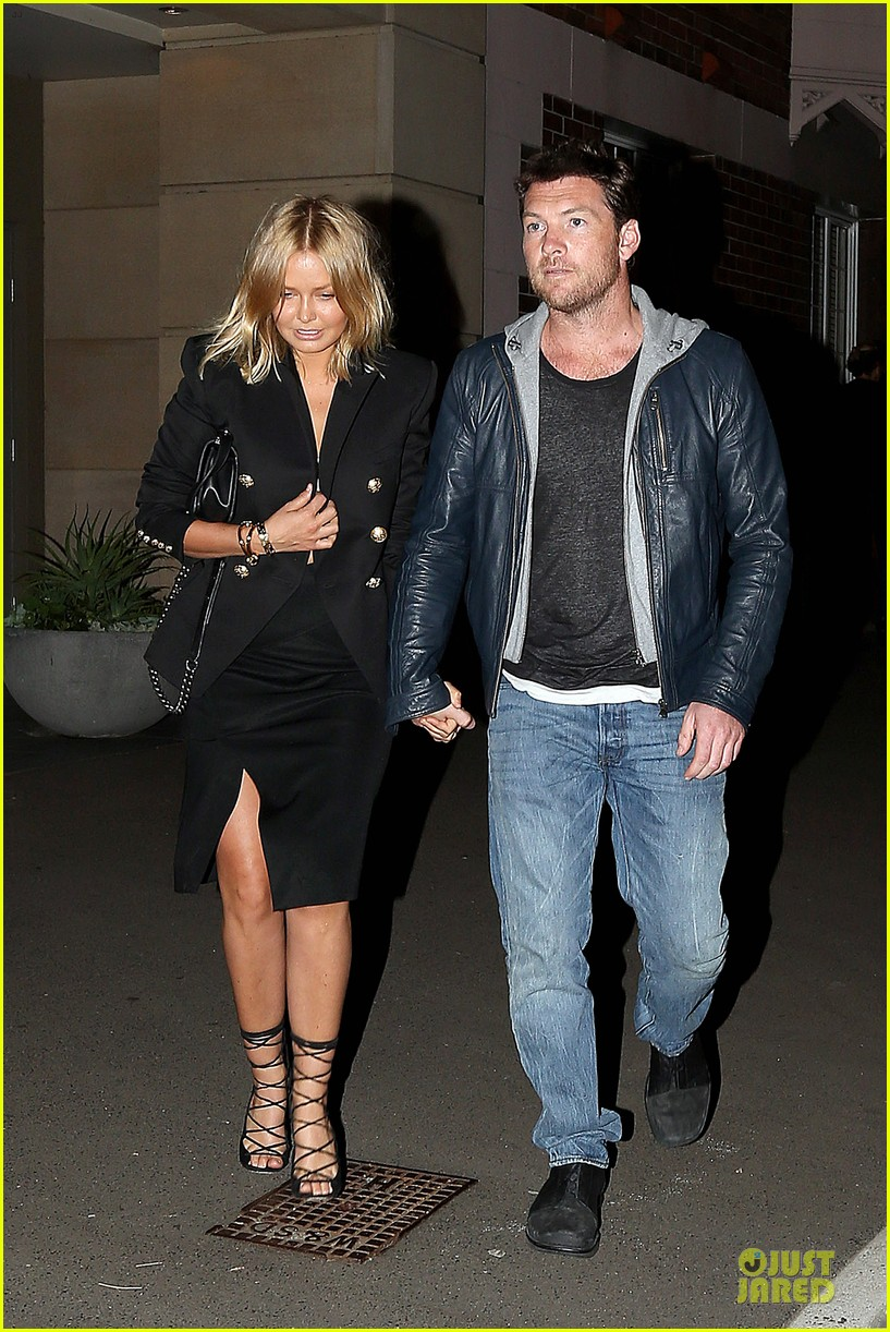 sam worthington lara bingle new couple alert 012969209