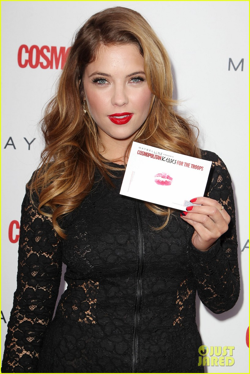 ashley benson kisses for the troops on veterans day 062990320