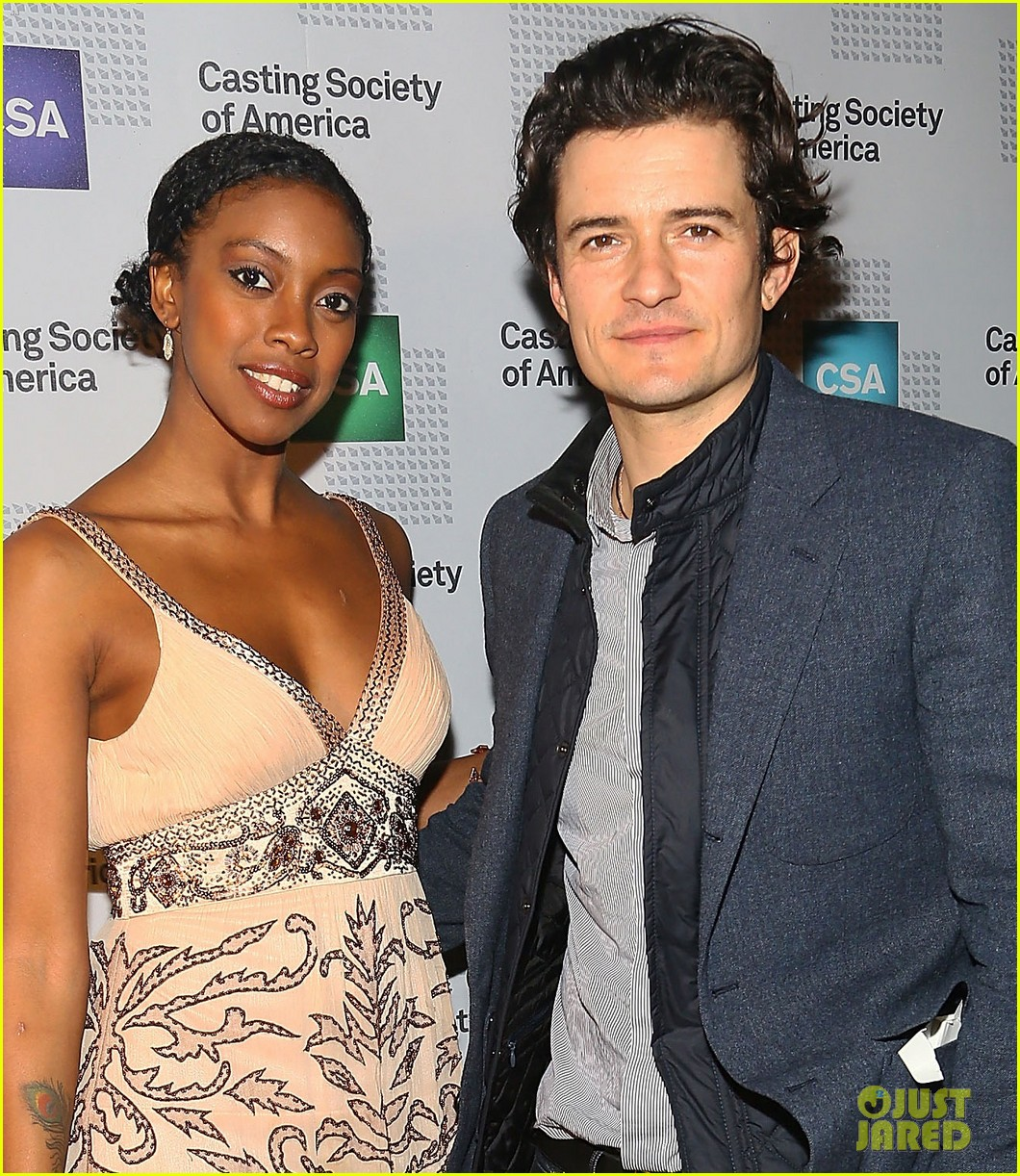 orlando bloom zosia mamet artios awards ceremony 2013 102995867