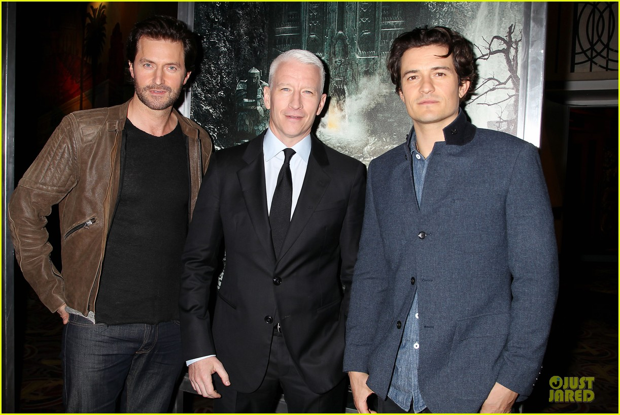 orlando bloom hobbit the desolation of smaug fan screening 09