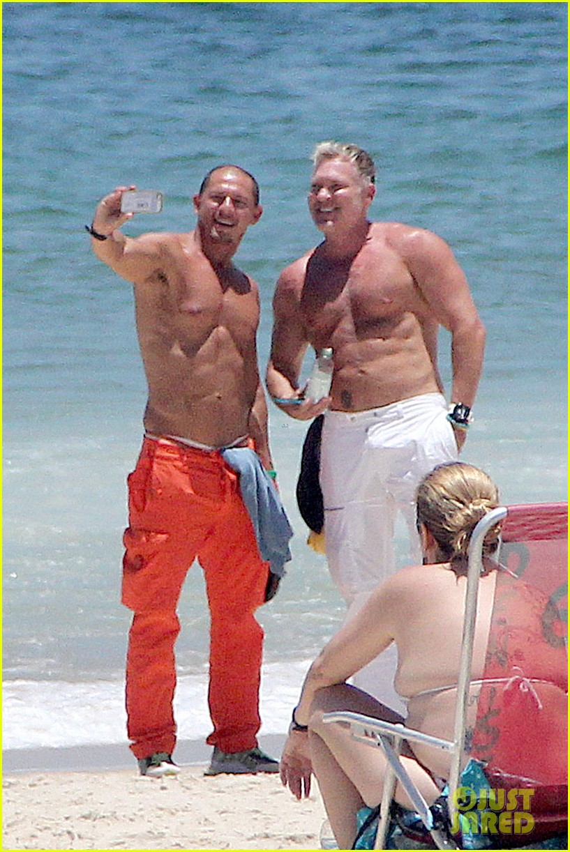 gma sam champion continues shirtless honeymoon 042997435