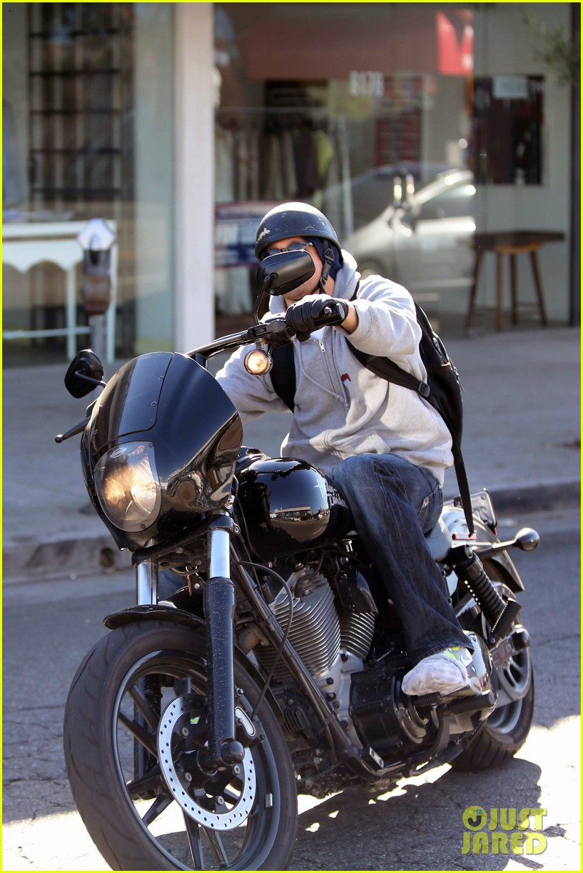 charlie hunnam west hollywood motorcycle man 172985625