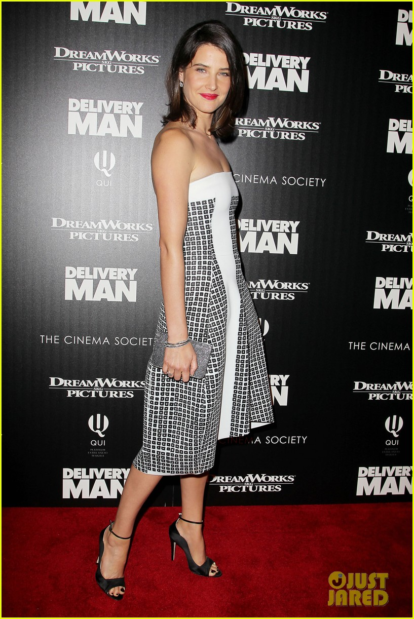 cobie smulders delivery man premiere with vince vaughn 112995140