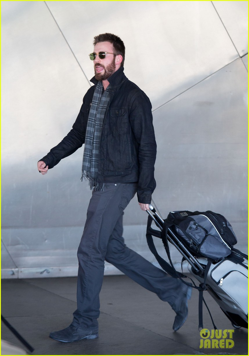 chris evans steps out after split from minka kelly 012989630