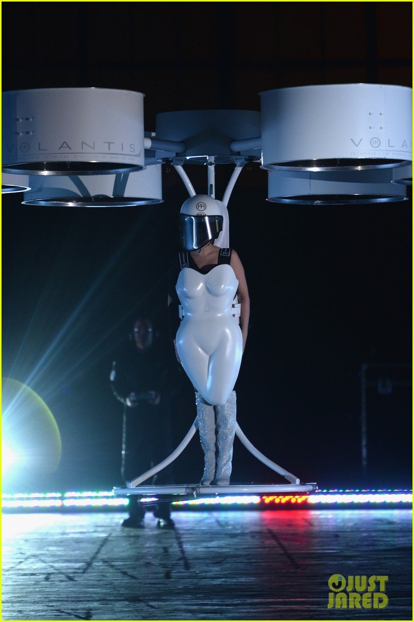 lady gaga debuts flying dress at artrage listening party 212990023