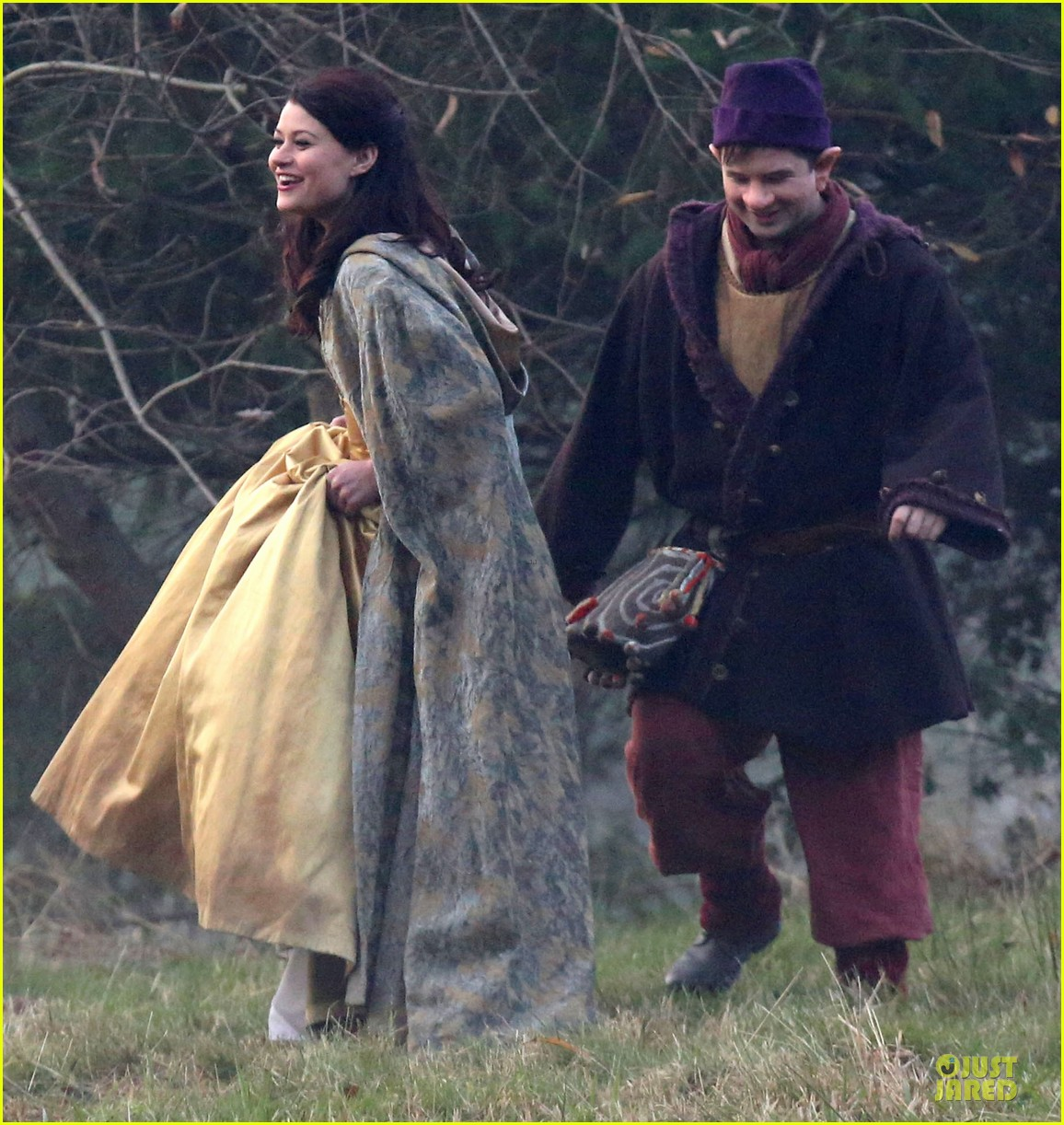ginnifer goodwin covers baby bump on once set 20