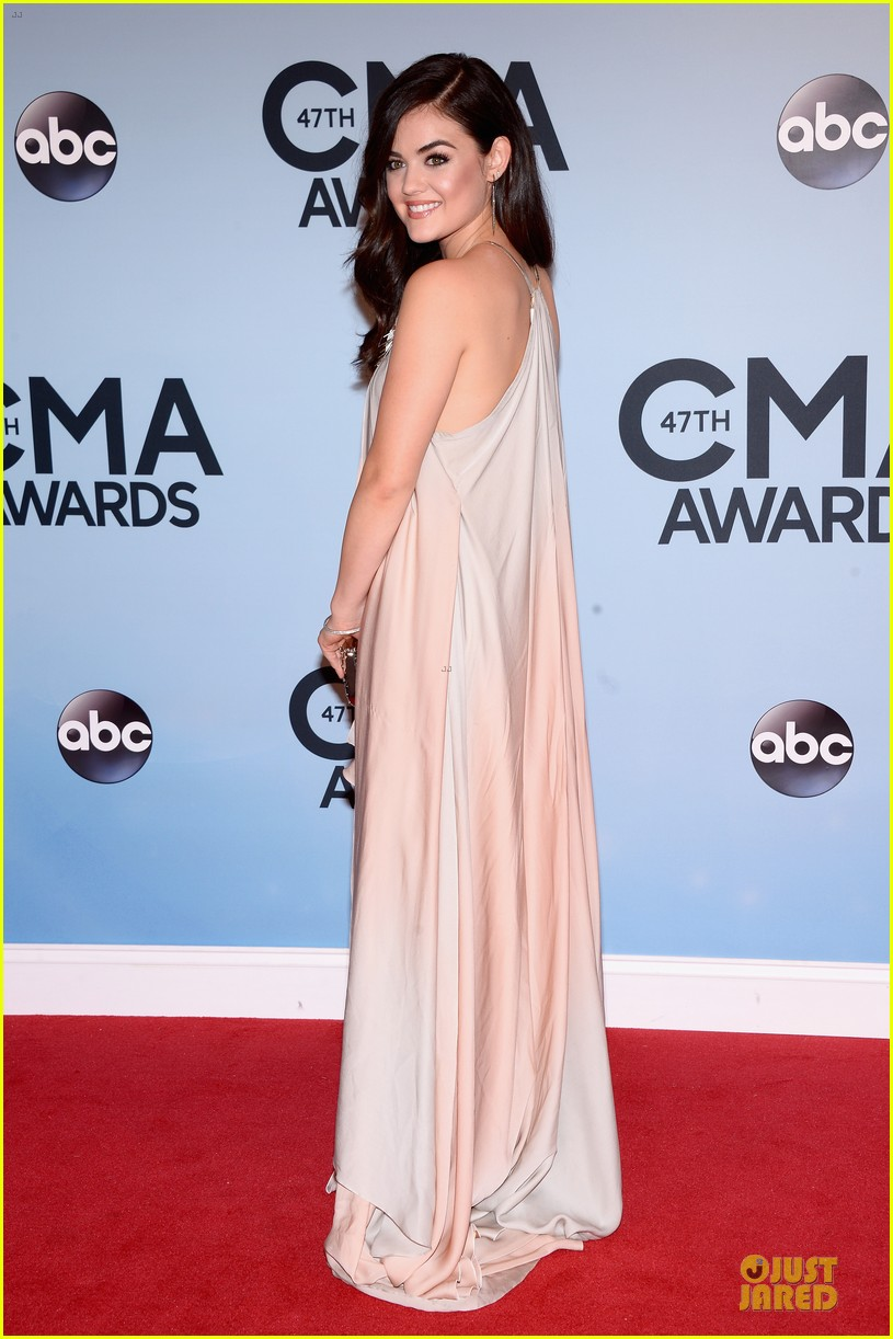 lucy hale colbie caillat cma awards 2013 red carpet 012987225