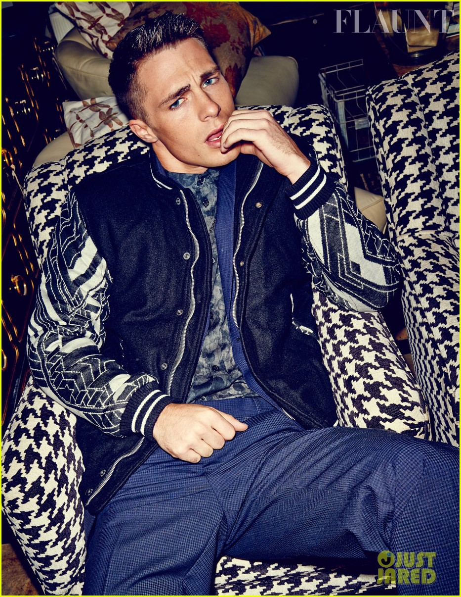 colton haynes flexes his muscles for flaunt feature 04