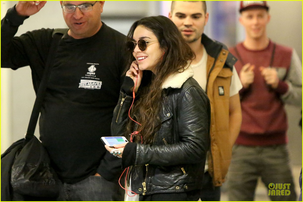 vanessa hudgens sports eyeglasses at lax airport 272993798