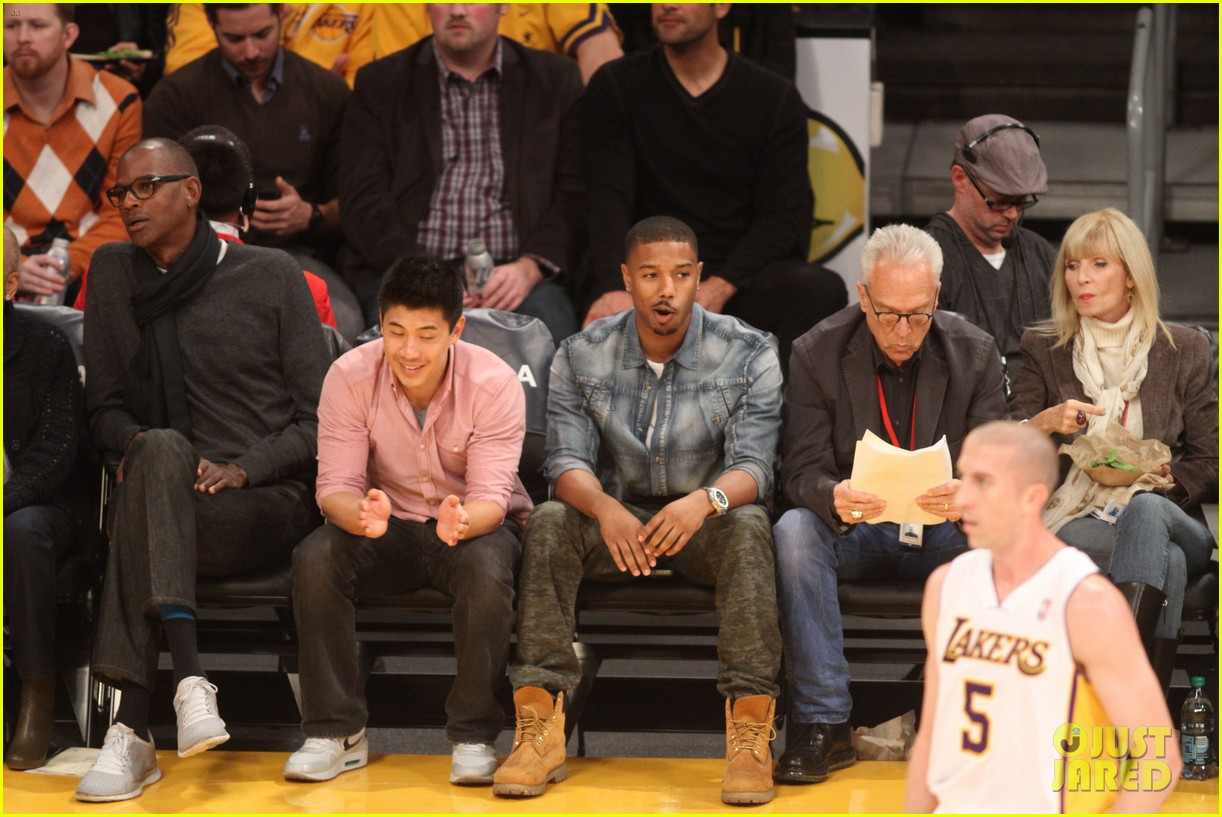 michael b jordan courtside seats at lakers v kings game 122999928