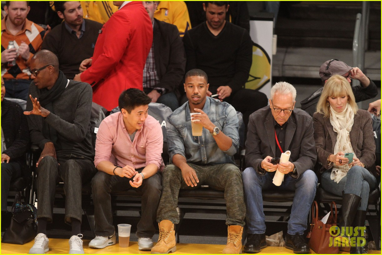 michael b jordan courtside seats at lakers v kings game 17