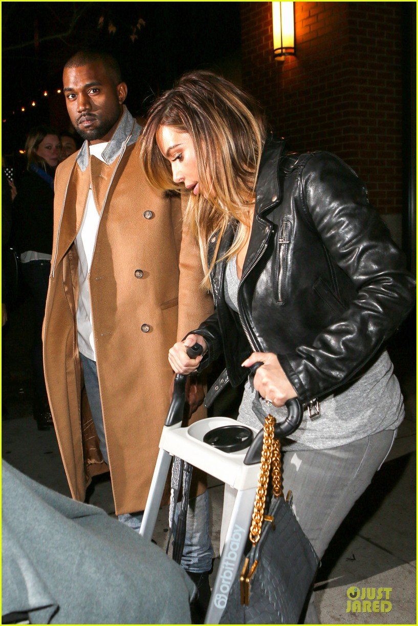 kim kardashian kanye west friday dinner date with north 04