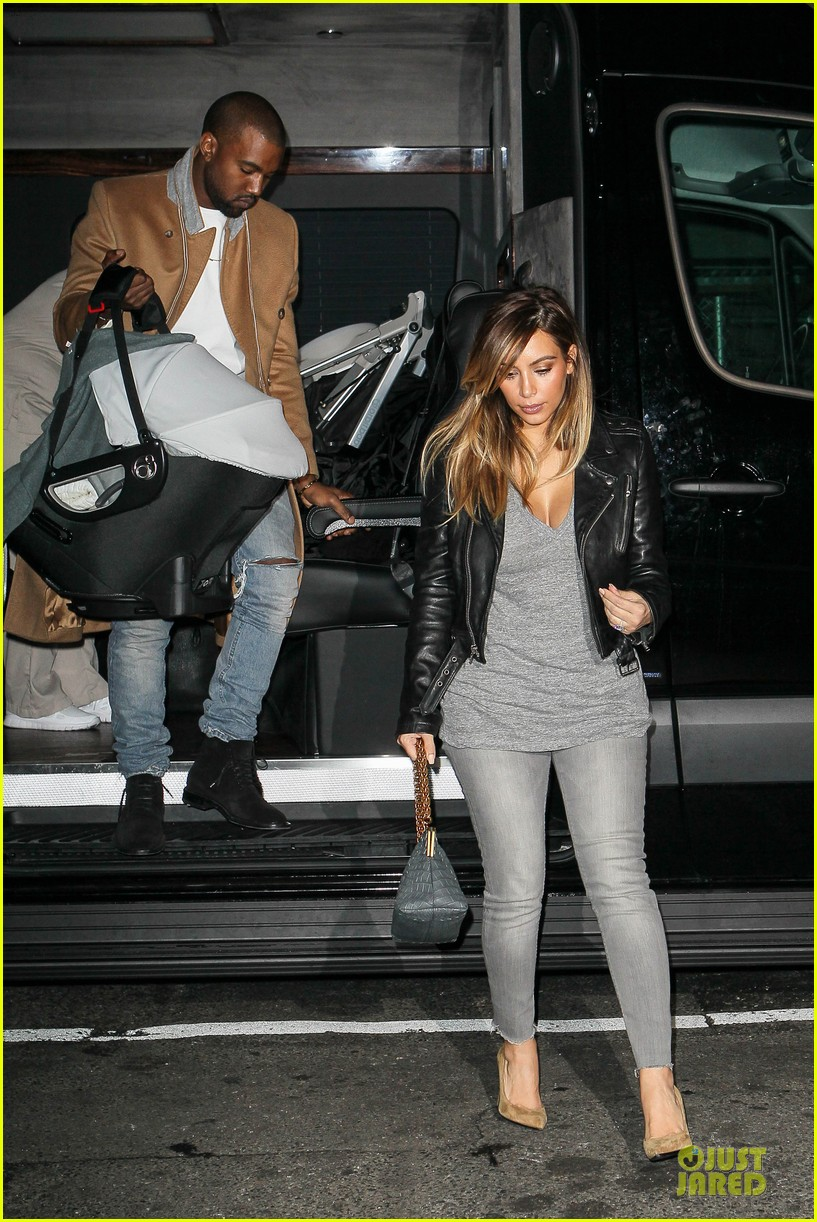 kim kardashian kanye west friday dinner date with north 15