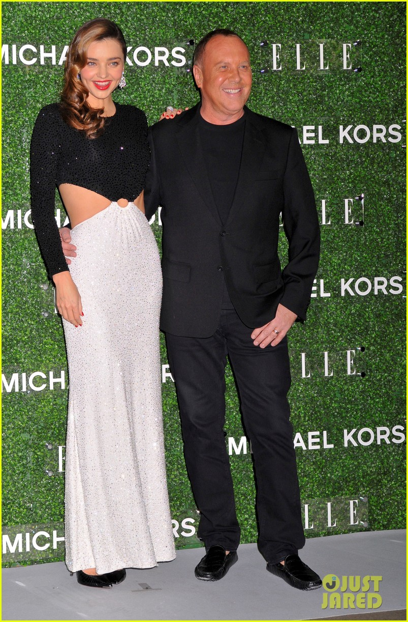 miranda kerr celebrates elle japan cover with michael kors 032991729