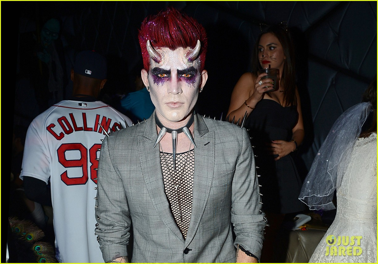 adam lambert hosts halloween party goes as devil 03