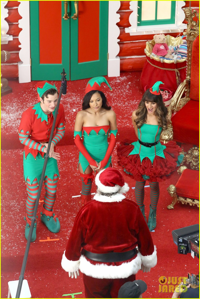 lea michele naya rivera santas sexy little helpers 082987822