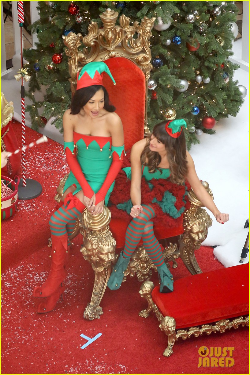 lea michele naya rivera santas sexy little helpers 232987837