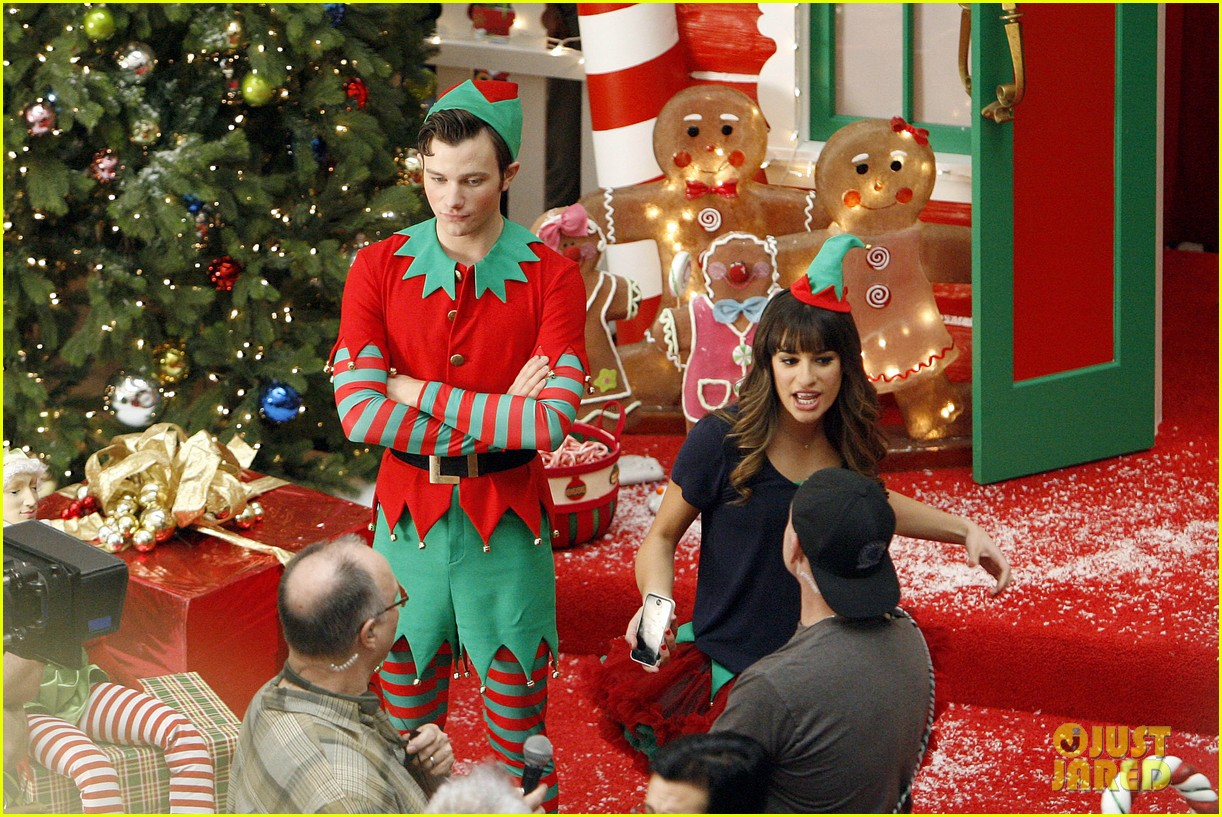lea michele naya rivera santas sexy little helpers 342987848