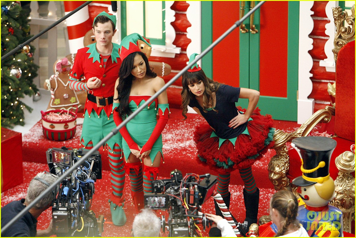lea michele naya rivera santas sexy little helpers 352987849