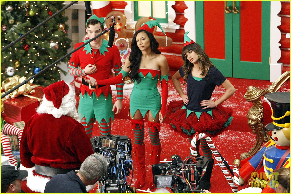 lea michele naya rivera santas sexy little helpers 482987862