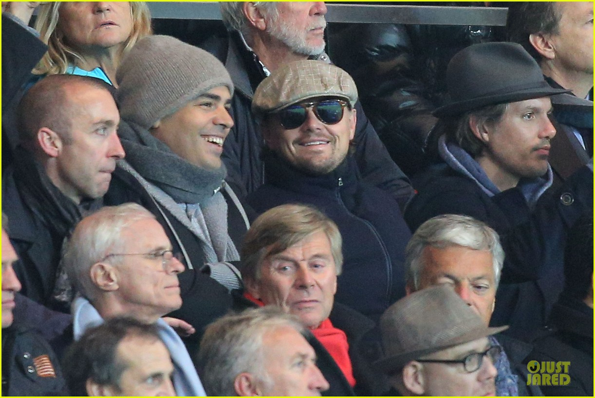 leonardo dicaprio paris soccer game with mom irmelin 102986692