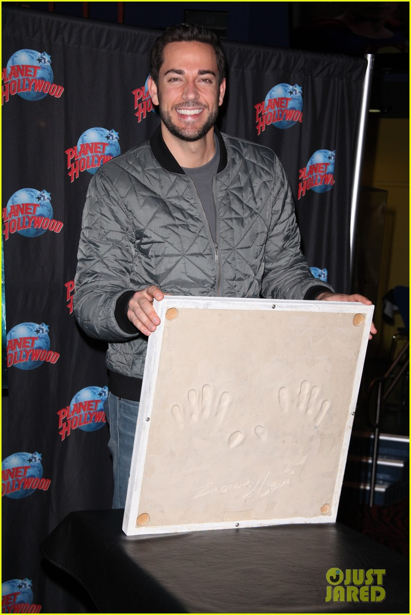 zachary levi planet hollywood handprint ceremony 022988536