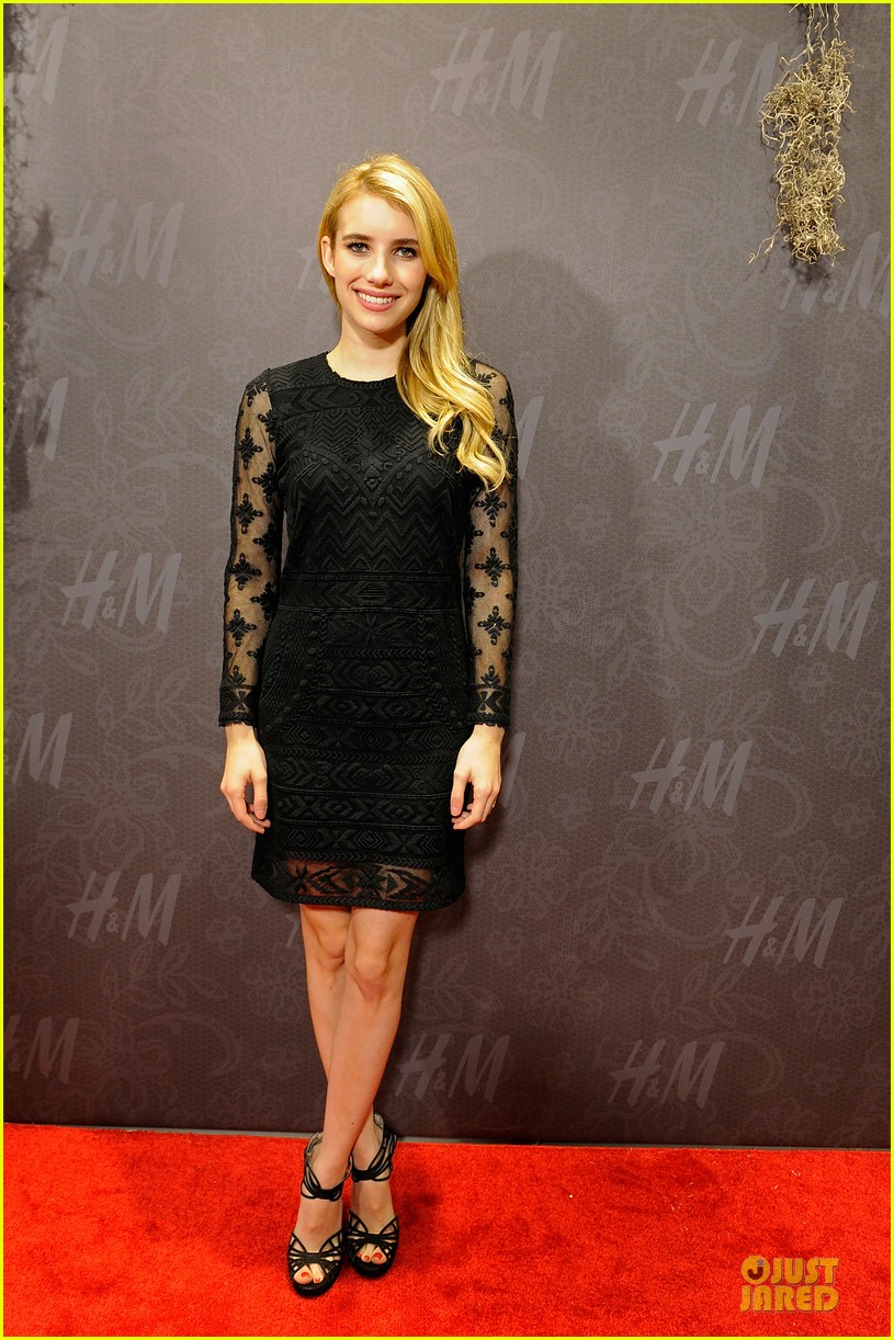 blake lively emma roberts hm new orleans store opening 16