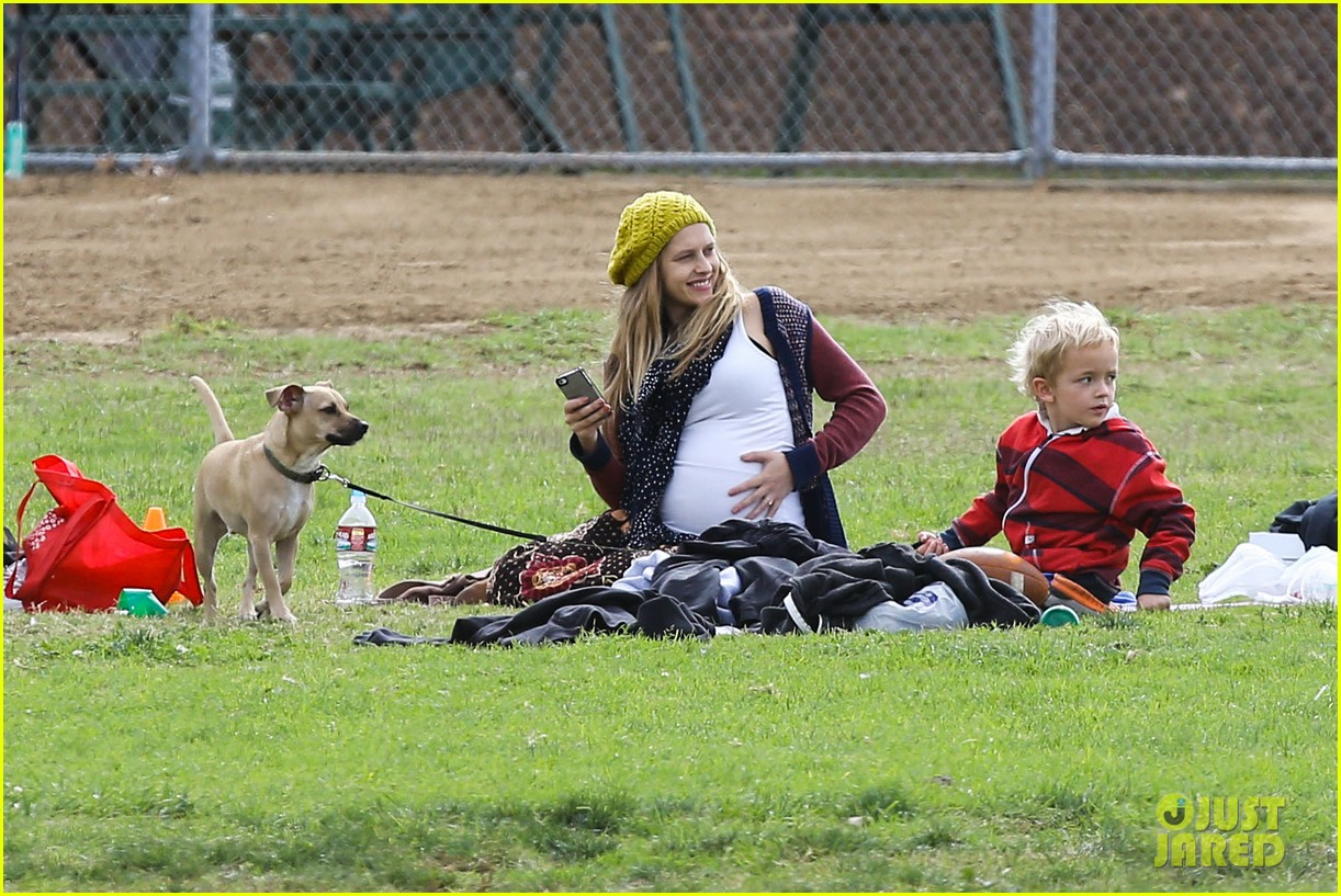teresa palmer dives for ball during family football game 11