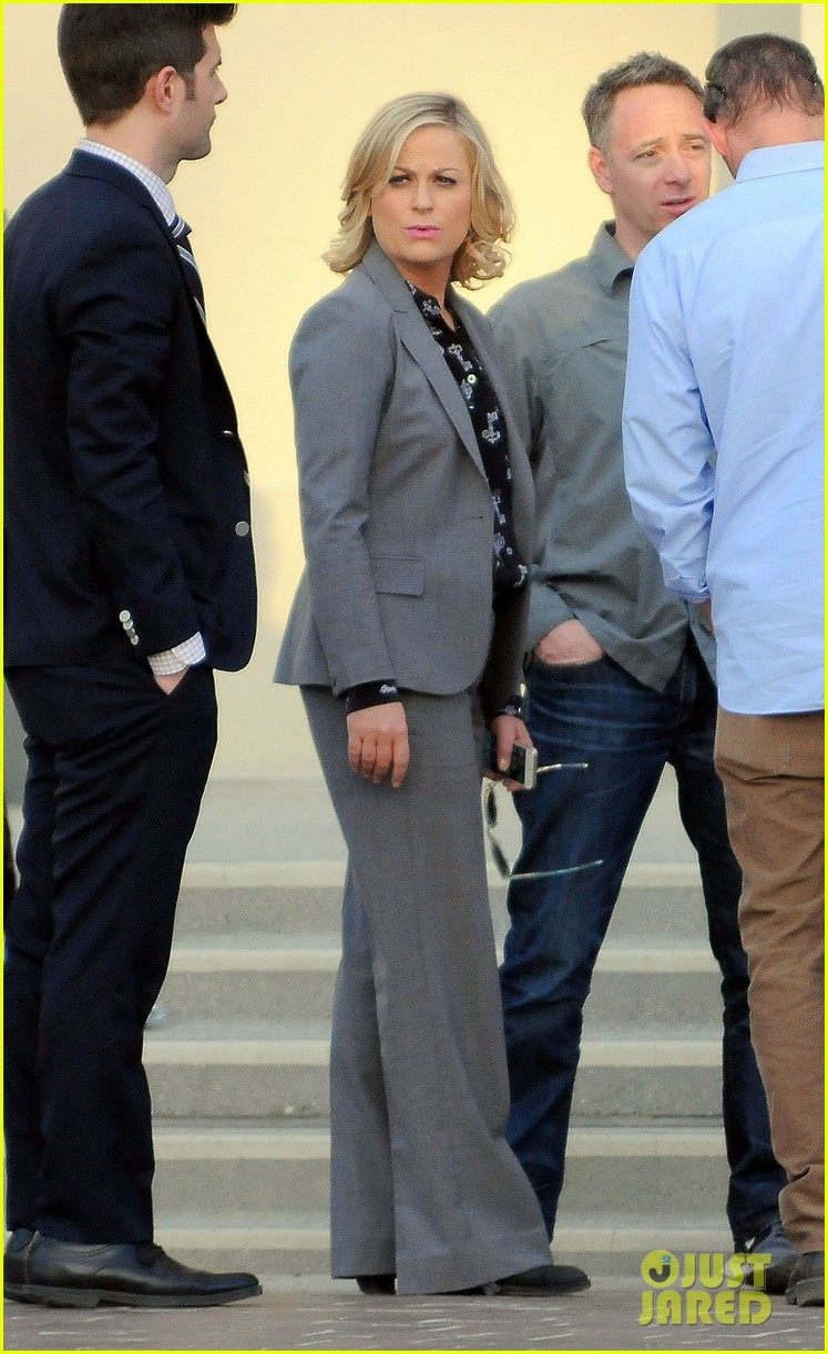 amy poehler adam scott film parks recreation together 11