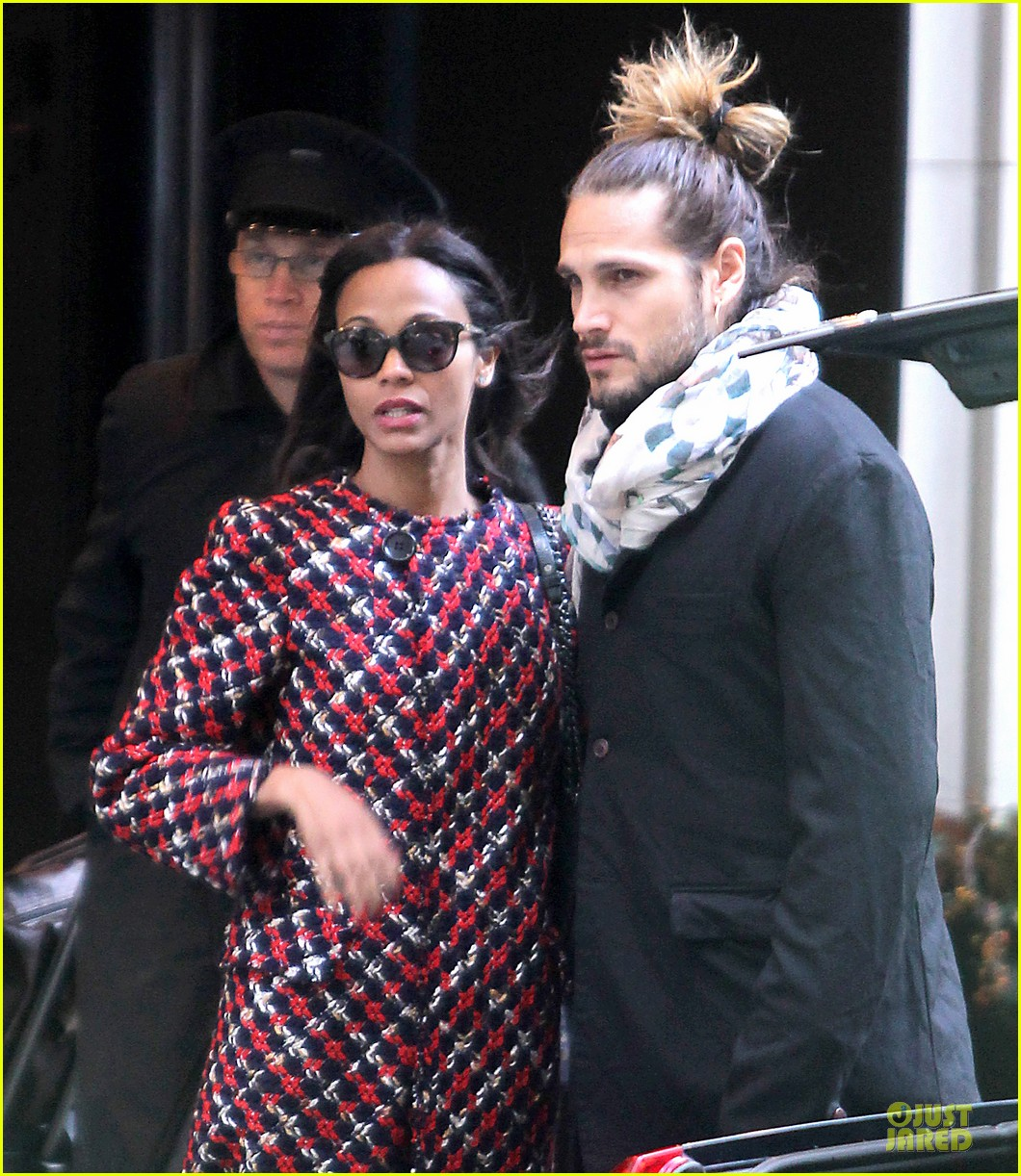 zoe saldana kisses marco perego after face tattoo flash 15