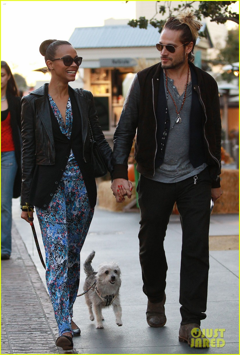 zoe saldana marco perego hold hands look so in love 20
