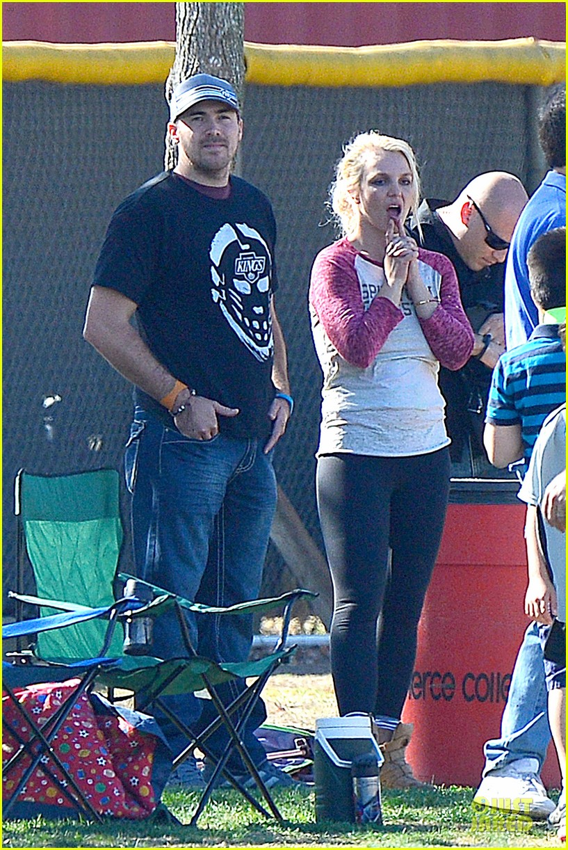britney spears david lucado soccer game with kevin federline 09