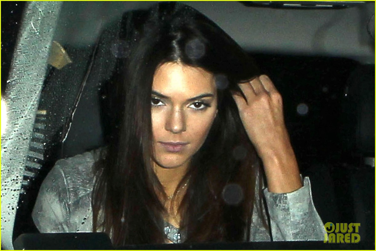 harry styles kendall jenner leave dinner together 02