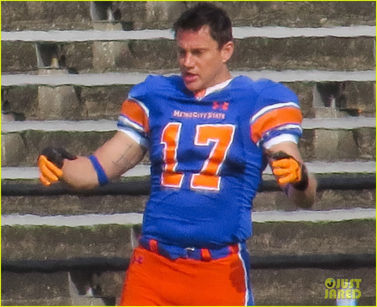 channing tatum filming 22 jump street football game 302991684