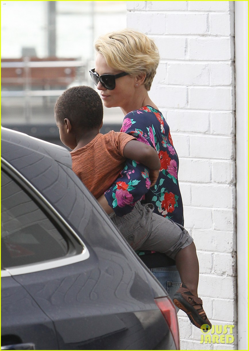 charlize theron sydney outing with her little man jackson 14
