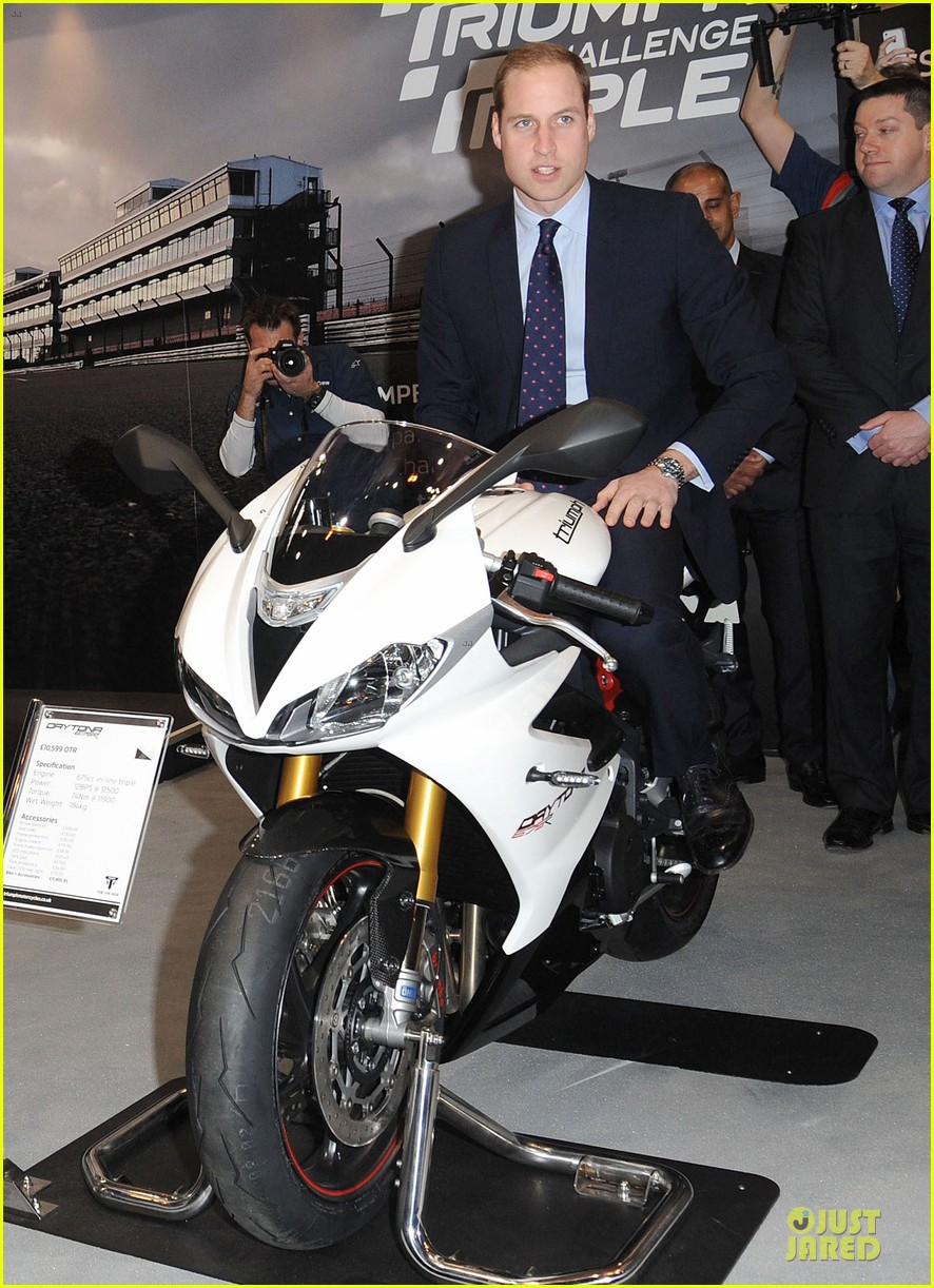 prince william receives gift at motorcycle live show 133002486