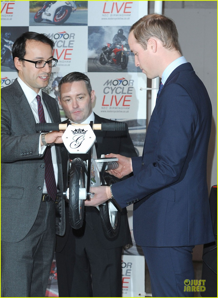 prince william receives gift at motorcycle live show 17