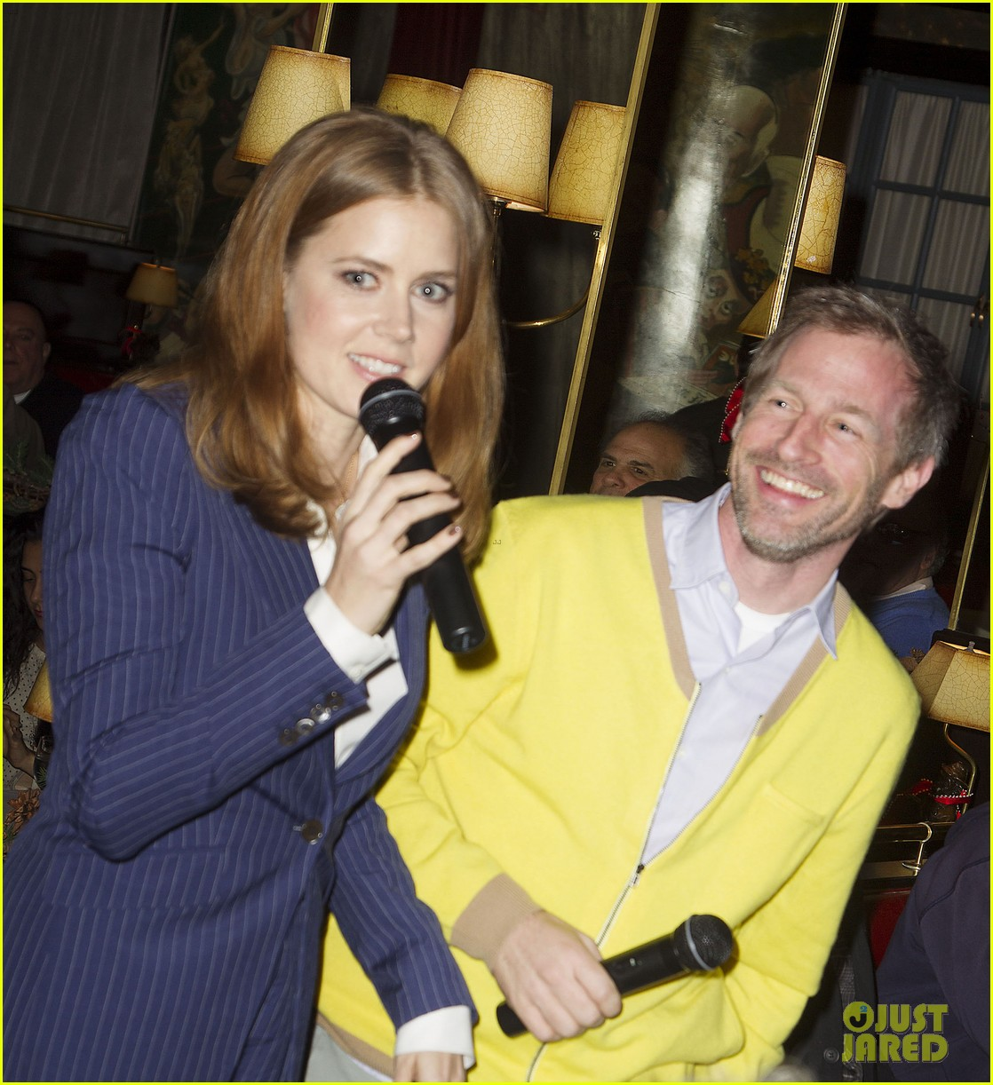 amy adams rocks pinstriped pantsuit at her luncheon 023009166