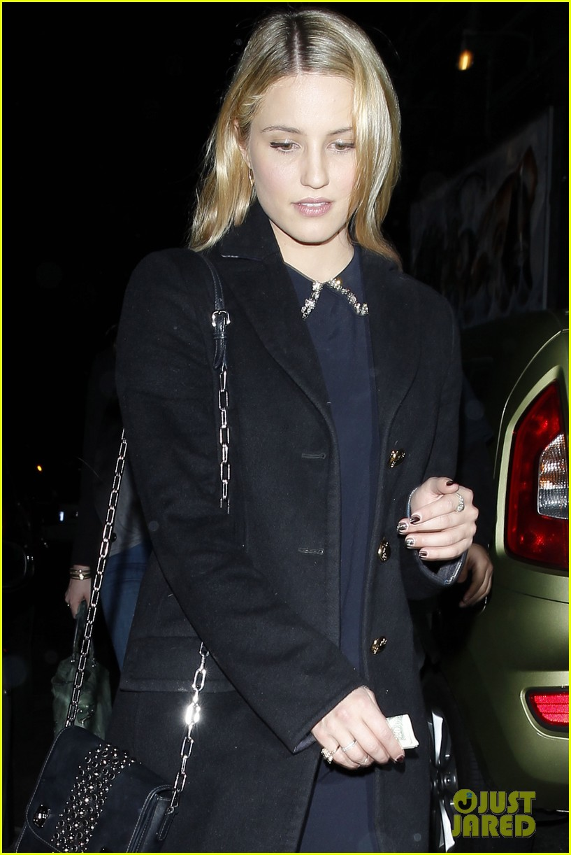 dianna agron supports glees amber riley at holiday concert 11