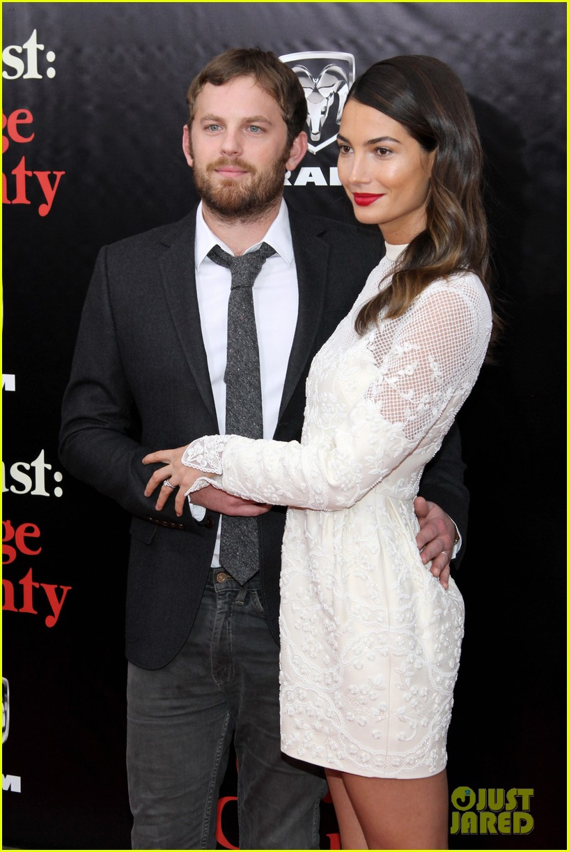 lily aldridge caleb followill august osage county premiere 04