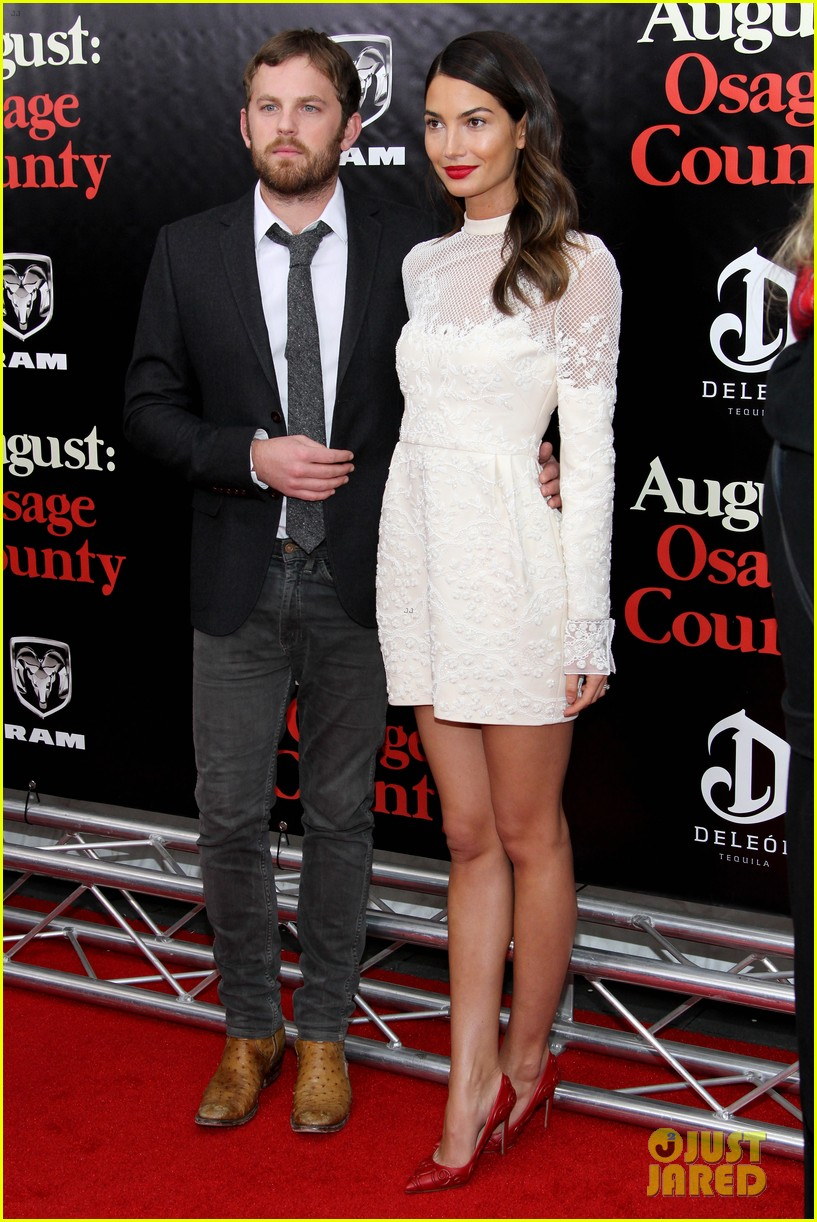 lily aldridge caleb followill august osage county premiere 13