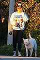 amanda bynes saturday stroll with parents pups 08