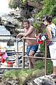simon baker shirtless beach day with the family 21