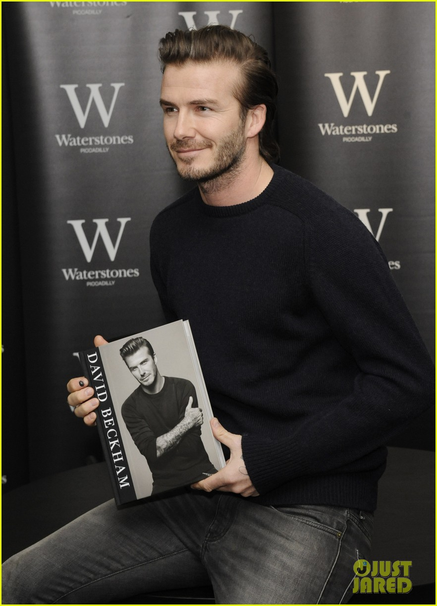 david beckham london book signing 01